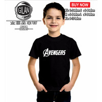 Kaos Baju Anak AVENGERS Logo Iron Man Kaos Anak Superhero - gilan clot