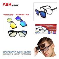 Kacamata Magnetic 3 warna / Kacamata Magnet Ask Vision / Kacamata gaya