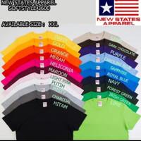 Kaos Polos New States Apparel NSA - Softstyle 3600 ukuran XXL - XXL