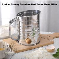 Ayakan Tepung Stainless Steel Putar Flour Sifter