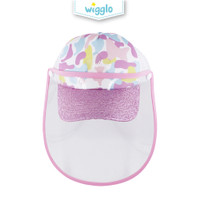 Wigglo Baseball Cap Army Pink With Face Shield