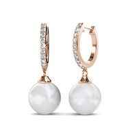 Pearl Clip Earrings - Anting Crystal by Her Jewellery