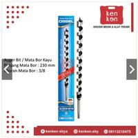 Mata Bor Kayu Spiral Panjang Auger Wood Bit Drill 3/8 x 230 mm