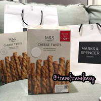 M&S Marks Spencer Cheese Twists Banned Pack 125grams x 2 Cheese Stick
