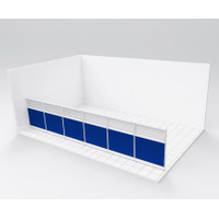 Paket 6 panel partisi sekat pembatas ruangan kantor P.600 x T.130 kaca