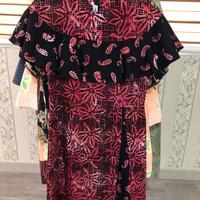 Preloved Second Baju Dress Wanita Batik Keris S Cotton Wax Merah