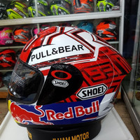 Helm Ink CL Max White Repaint Shoei Marquez INKCLMAX