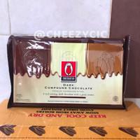 Coklat tulip dark chocolate compound - cokelat batang murah 1 kg