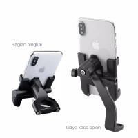 Holder handphone HP full aluminium untuk distang motor atao dispion