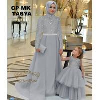 Baju Gmais Muslim Couple Mom and Kids - Gamis Couple Mk Tasya abu