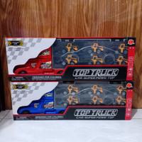 mainan anak top truck + 6 pc mobil contruction