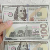 mainan uang dollar palsu isi 50 untuk koleksi