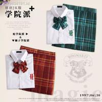 JPN Harry Potter School Uniform Dress Skirt Girl Costume Kostum Lolita