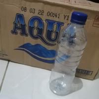 botol aqua bekas 600 ml isi 24pc dus aqua
