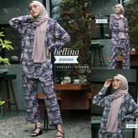Pajamas One Set Premium Piyama Wanita Daily Set Muslimah Baju Tidur