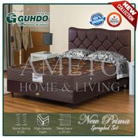 Spring Bed Guhdo 180x200 New Prima BS Atlantic HB Lavela Full Set - Cokelat