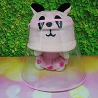 Topi Anti corona bayi / Topi Bayi Face shield / Motif Panda