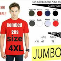 Kaos Polos Lengan Pendek Combed 20s size 4XL - Paling Murah