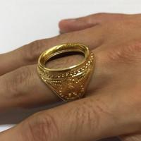 Kerangka Cincin Batu Akik Pria Warna Gold/emas model mahkota bagus