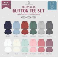 Little Palmerhaus - Sleeveless Button Tee Set / Setelan Baju Buntung