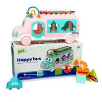 mainan happy bus xylophone/mainan music dan edukasi anak