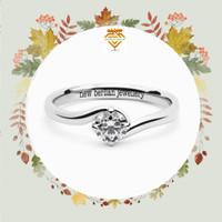 cincin berlian eropa asli-model mata satu -emas putih asli 750