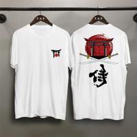 TP Kaos distro pria samurai gerbang T-shirt pria Baju pria Atasan pria