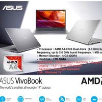 LAPTOP ASUS M409BA - AMD A4-9125 4GB 1TB HDD RADEON R3 14 W10 BACKLIT