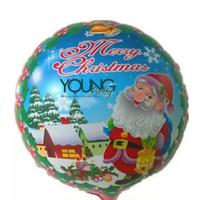 Balon Foil bulat/Balon Natal bulat jenggot santa