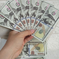 mainan uang Dollar isi 50pcs