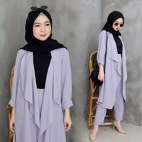 Baju Setelan Kantor Wanita Hijab Terbaru Jade dan Celana