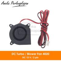 3D Printer DC Blower Fan / Turbo Fan / Kipas Keong 4020 12V 2 pin