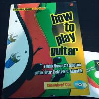 Buku BEKAS | How To Play Guitar + CD Original | Gramedia 2005