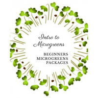 Paket set Microgreens 4 benih starter kit microgreen organic NON GMO