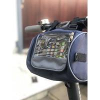 Tas Stang Sepeda Tabung Tempat HP Layar Sentuh Bisa Selempang - Hijau Stabilo