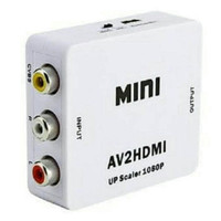 Converter AV RCA Merah putih kuning to HDMI Adapter Box MINI AV2HDMI