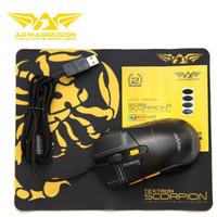 Mouse gaming RGB Armageddon Scorpion 5 free Mousepad
