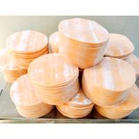 Kulit Dimsum / Gyoza / Swekiaw warna Orange, diameter 8 cm