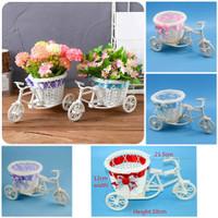 Pot Bunga Tanaman Hiasan Dekorasi Rumah Cafe Studio Keranjang Sepeda