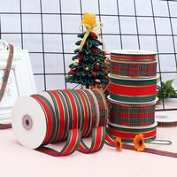 pita merah hijau natal / ribbon hias kado meter christmas Red
