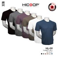 KAOS PRIA ROUND NECK HICOOP MEN HL-09 T-SHIRT 1 IN 1