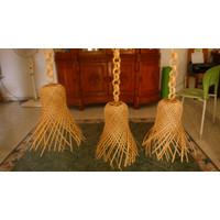 Krongso Satuan- Lampu bambu - lampu hias -lampu gantung -anyaman bambu