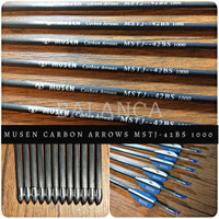 Musen arrow 42BS Pure Carbon Spine 1000 OD 5,44mm ID 4,2mm / Arrow