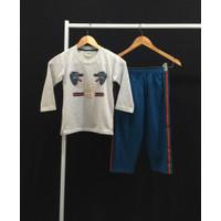 Setelan Baju Tidur Anak Laki Laki Katun GCC Serigala 7 s/d 18 Tahun