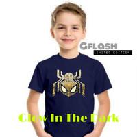 Baju Kaos Anak Glow In The Dark Spider Man RSKG002