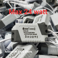Driver LED lampu panel max 24 watt adaptor trafo led balast