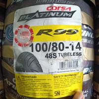 Ban Luar Motor Matic Corsa Platinum R 99 100/80-14 Tubeless