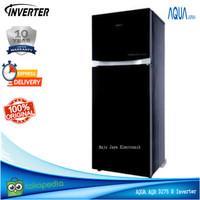 Kulkas 2 Pintu Aqua AQR 275 R Inverter 220 L GlassDoor Garansi 10 Th