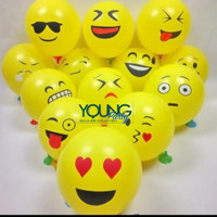 Balon Latek emoji/Balon emoticon 12 inch/Balon lucu