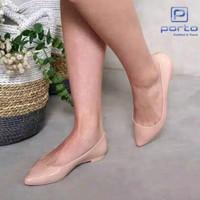 Sepatu Wanita Flat Jelly Lancip Glossy BTC